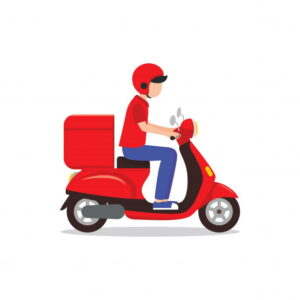 Delivery Man with Scooter- Web app idea